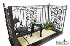 Wrought iron balconies delivered nationwide. U install balcony system.
