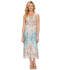 Reba Lace Sublimation Print Dress