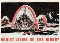 Soviet cities on the moon?