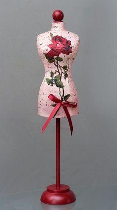 Flower Appliqué Dress Form