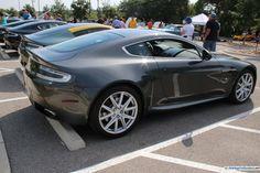 Aston Martin V-8 Vantage. Note rare manual transmission. As seen at the 2015 Texas All British Cars Day show.