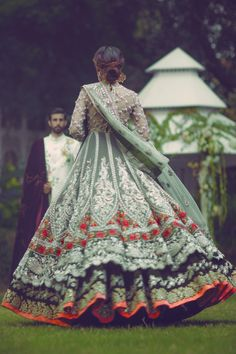 High Fashion Pakistan — Elan's 'Palais Indochine' bridal collection. Pakistani Couture, Pakistani Wedding Dresses, Indian Couture, Pakistani Outfits, Indian Dresses, Indian Outfits, Walima Dress, Wedding Mint, Wedding Suits
