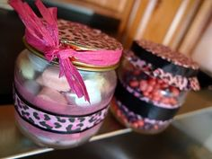 party gifts - home made candy jars