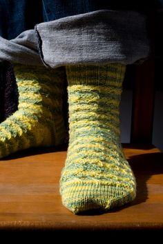 Ivy Brambles Lightning Socks Pattern by Patti Waters