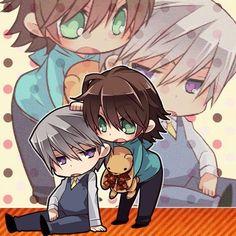 Usagi & Misaki, Junjou Romantica.... My favourite Yaoi series ever ^_^.