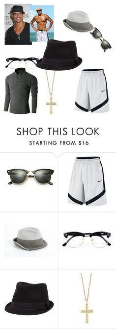 """""""Shemar Moore"""" by shannongarner ❤ liked on Polyvore featuring Ray-Ban, NIKE, Armani Collezioni, Topman, Doublju, BKE, Effy Jewelry, men's fashion and menswear"""