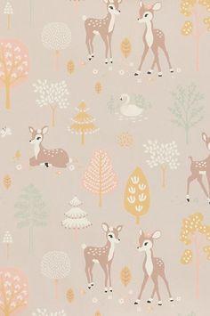 Majvillan Wish upon your dreams - Golden woods Easy Up, Retro Kids, Waste Paper, Wallpaper Paste, Woodland Creatures, Lilacs, William Morris, Runes, Kids Bedroom