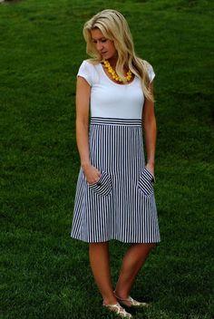 10 Free Women's T-shirt up-cycled dress patterns Nautical T-Shirt Up-Cycle Dress Pattern & Tutorial