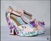 Escarpin compensé PrettySpring : Chaussures par piedebiche-collection