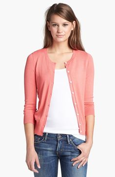 my absolute fave staple. Halogen® Three Quarter Sleeve Cardigan (Regular & Petite) available at #Nordstrom