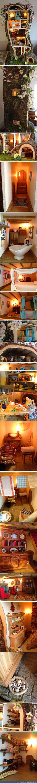 Mini mouse tree dolls house