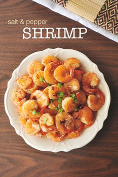 Salt and Pepper Shrimp - Super easy and quick shrimp recipe that only requires 8 ingredients and 20 minutes to cook. It gets better with every try! Read more at  http://www.delishplan.com/salt-pepper-shrimp/