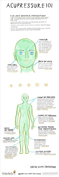 Acupressure 101: You Can Relieve Your Stress Without Leaving Your Desk #infographic
