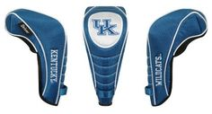 NCAA Kentucky Wildcats Shaft Gripper Driver Headcover by Team Effort. $21.67. Constructed of durable 420D nylon in vibrant collegiate team colors. Driver designed to fit most 460cc drivers. Corresponding woven tag clearly indentifies your Driver. Patented Shaft Gripper technology easily releases to allow quick single-handed removal from you club (US Patents 7,188,647, D469,491 and Other Patents Pending). Collegiate Shaft Gripper Driver Headcover