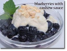 Blueberries with Cashew Sauce