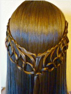 Hairstyles For Girls With Long Hair: Feather Chain