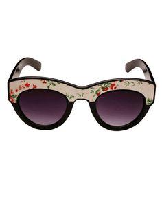 Vintage Floral Print Sunglasses.
