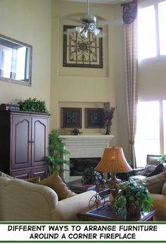 Different Ways to Arrange Furniture Around a Corner Fireplace