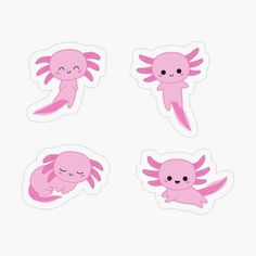 Kawaii axolotl sticker set | cute pink sea creature, internet pop culture. pink fish Kawaii Stickers, Cute Stickers, Plastic Stickers, Axolotl, Personalized Water Bottles, New Sticker, Pink Patterns, Transparent Stickers, Pop Culture
