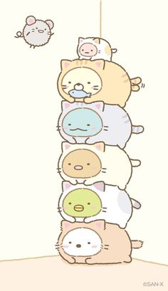 Sumikko gurashi animals in cat costumes