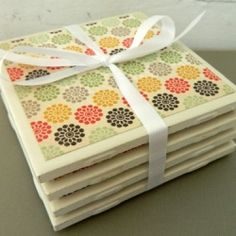 These coasters are super easy to make, and they make great housewarming gifts!