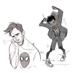"""My """"spider-sonas"""" already exist in the movie…🤷🏾♀️ Marvel Art, Marvel Dc Comics, Marvel Avengers, All Marvel Characters, Human Drawing Reference, Spider Baby, Anime Undertale, Marvel Costumes, Spiderman Spider"""