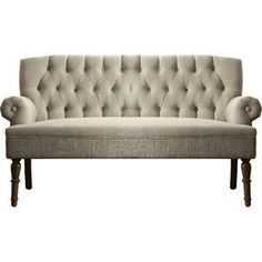 Shop Joss & Main for your Hermosa Settee. Inspired by the traditional English style furniture, our Hermosa tufted settee presents the graceful character and a vintage finding. Settee Sofa, Tufted Sofa, Sectional Sofa, Couches, Making A Bench, Sofa Sale, Best Sofa, Living Room Furniture, Furniture Design