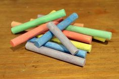 pile of colorful chalk