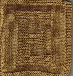 "Knitted ""E"" square/cloth"