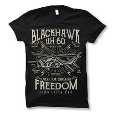 Blackhawk Tshirt Design Template Based On Vector Files Such As Ai And Cdr Also With Psd Separated Layers File The Has 1 Color Print