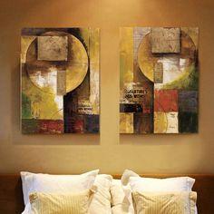 Collage de periódicos viejos artista lienzo arte de la pared abstracta moderna…