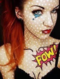 comic book makeup - Halloween