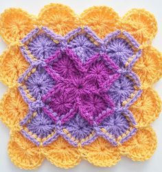 How to Crochet the Bavarian Square