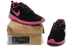 Nike Womens Roshe Run Black Pink