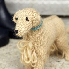 Best in Show Books: Knit Your Own Animal   Golden Retriever Pattern