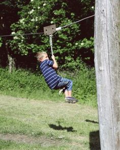 How to Make a Zip Line with a Rope