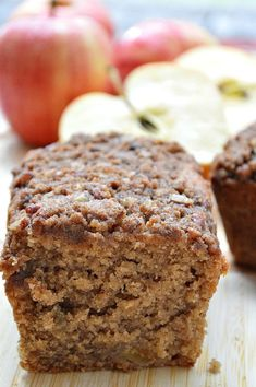 Gluten Free Baked Apple Bread- Warm spices baked with sweet apples give this quick bread wonderful flavor and texture.