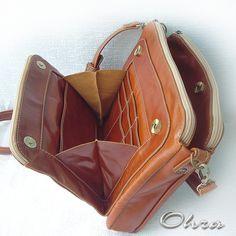 """Купить Сумочка кожаная """"Тула"""" - рыжий, Сумочка маленькая, удобная сумочка, много отделений"""
