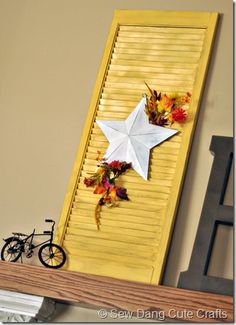 I like the Idea of using a Shutter for decoration but not the exact details on it.
