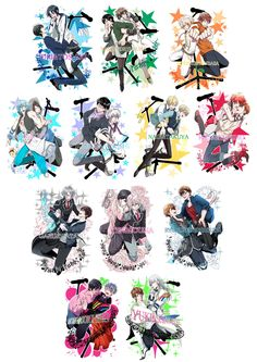 Anime Crossover, Best Pictures Ever, Cool Pictures, Anime Music, Anime Art, Tsukiuta The Animation, Cool Anime Guys, 4th Anniversary, Kuroko Tetsuya