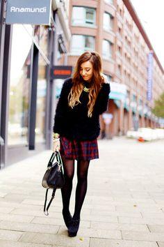 #Tartan #Skirt // Flirting with Fashion