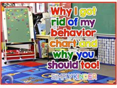 I Took My Behavior Chart Off My Wall! Things I did to make it work and a freebie for classroom management at Simply Kinder!Why I Took My Behavior Chart Off My Wall! Things I did to make it work and a freebie for classroom management at Simply Kinder! Classroom Behavior Management, Behavior Plans, Classroom Rules, Preschool Classroom, Teaching Kindergarten, Classroom Ideas, Classroom Organization, Behaviour Management, Teaching Ideas