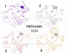 [CLOSED] Halloween YCHs by rollingpoly