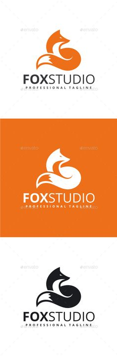 Fox Studio Logo Template #design #logotype Download: http://graphicriver.net/item/fox-studio-logo/12372868?ref=ksioks
