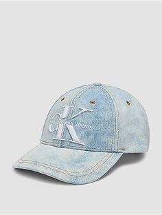 Calvin Klein Womens Reissue Logo Denim Cap Denim Light Blue #hat #womens