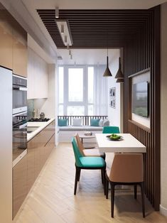 70 trendy home interior modern contemporary kitchens Apartment Interior, Kitchen Interior, Modern Interior, Room Interior, Modern Decor, Sweet Home, Appartement Design, Interior Design Boards, Cuisines Design