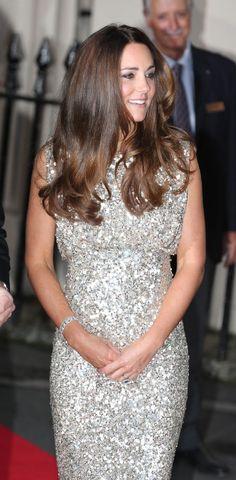 Kate Middleton fashion verdict: Glamorous duchess shows off fabulous figure in sequinned Jenny Packham dress 09/12/13