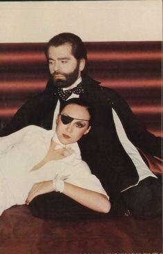 Marie Helvin & Karl Lagerfeld by David Bailey