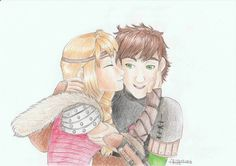 Hiccstrid - Valentine Day - hiccup - astrid - kiss - hug - love