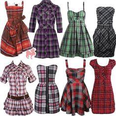 vestidos xadrez 8 Mode Outfits, Fashion Outfits, Fashion Moda, Womens Fashion, Tartan, Flannel Dress, Plaid Outfits, Spring Dresses, Dress Making
